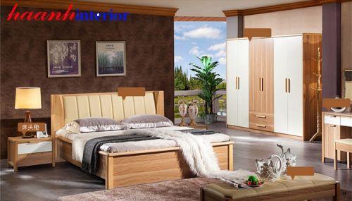 Giường gỗ hiện đại cao cấp GNH027