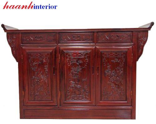 Tủ thờ đời minh gỗ gụ TTC013