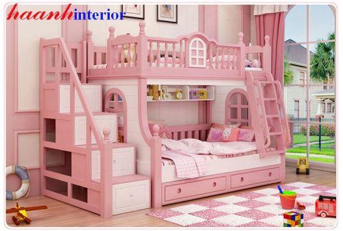 Giường tầng cho bé gái GTE022