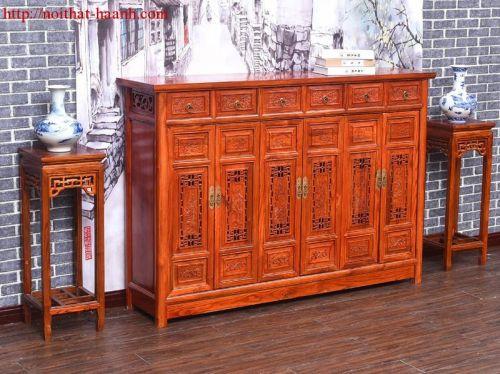 Tủ giầy gỗ tự nhiên giả cổ TGC001
