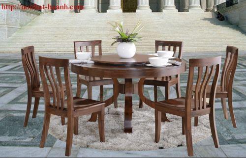 Bàn ghế ăn gỗ tự nhiên óc chó BGA037
