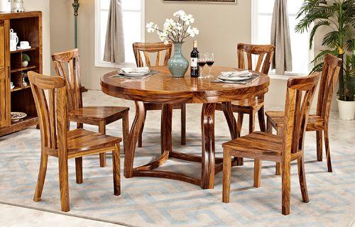 Bàn ghế ăn tròn gỗ tự nhiên hiện đại. BGA 041