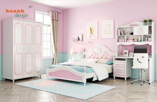 Nội thất phòng ngủ trẻ em sản phẩm cho bé gái.PCB 015