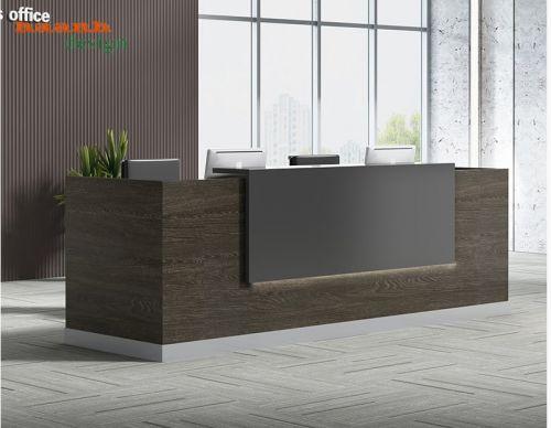 Quầy lễ tân gỗ công nghiệp sản phẩm chất lượng và sang trọng. QLT 017