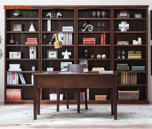 Nội thất phòng làm việc, phòng thư viện gỗ tự nhiên.PLVH 023