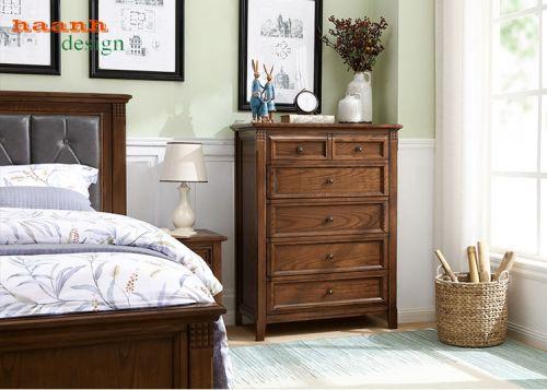 Tủ ngăn kéo gỗ sồi mỹ tự nhiên,phong cách mỹ tinh tế và chất lượng. TNK 003