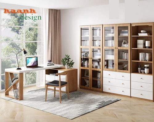 Nội thát phòng làm việc gỗ công nghiệp phong cách hiện đại PLVH 026