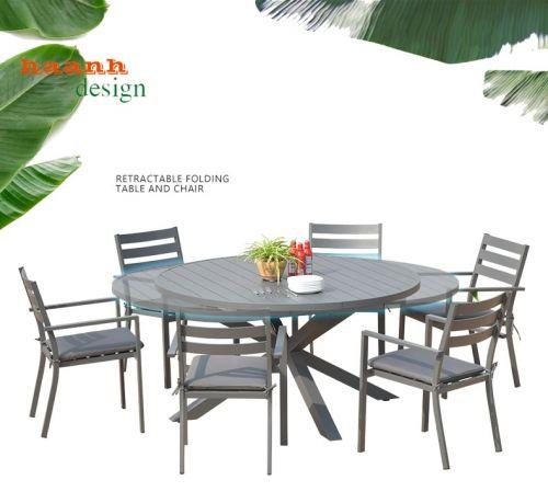 Bàn ghế sân vườn sắt sơn tĩnh điện thiết kế độc đáo ấn tượng BGS 008