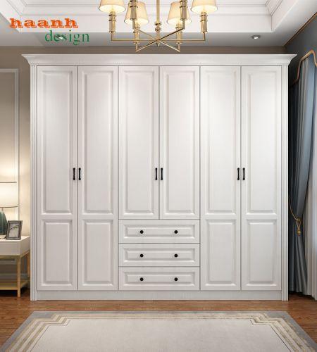 Tủ áo gỗ công nghiệp phong cách hiện đại chất lượng cao cấp  TAH 034