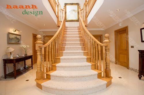Cầu thang gỗ phong cách ấn tượng từng chi tiết CTG 006