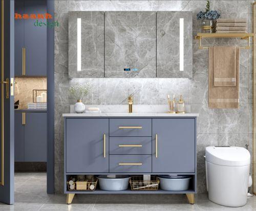 Tủ lavabo phòng tắm gỗ công nghiệp hiện đại và sang trọng LVB 004