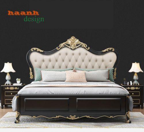 Giường ngủ tân cổ điển, giường gỗ tân cổ điển châu âu. GNC 033