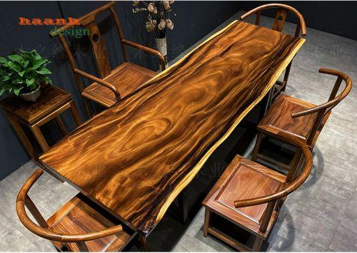 Bàn trà nguyên tấm gỗ tự nhiên me tây đẳng cấp. BGT 009