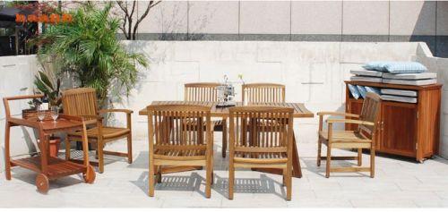 Bàn ghế gỗ sân vườn, bàn ghế ngoài trời gỗ teak. NTG 028