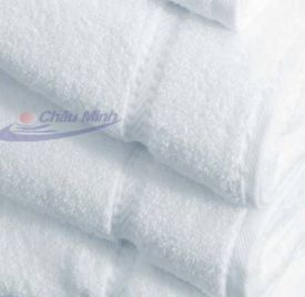 Khăn quấn người cotton 70x140cm 500gr dùng trong spa (Màu trắng xanh)