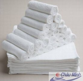 Khăn tay Cotton 25x25cm 30gram dùng trong Khách sạn (Hàng cao cấp)