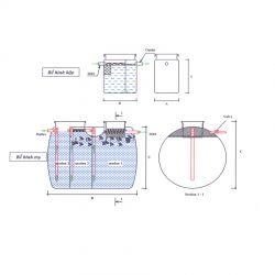Bể tách mỡ dạng môđun FRP