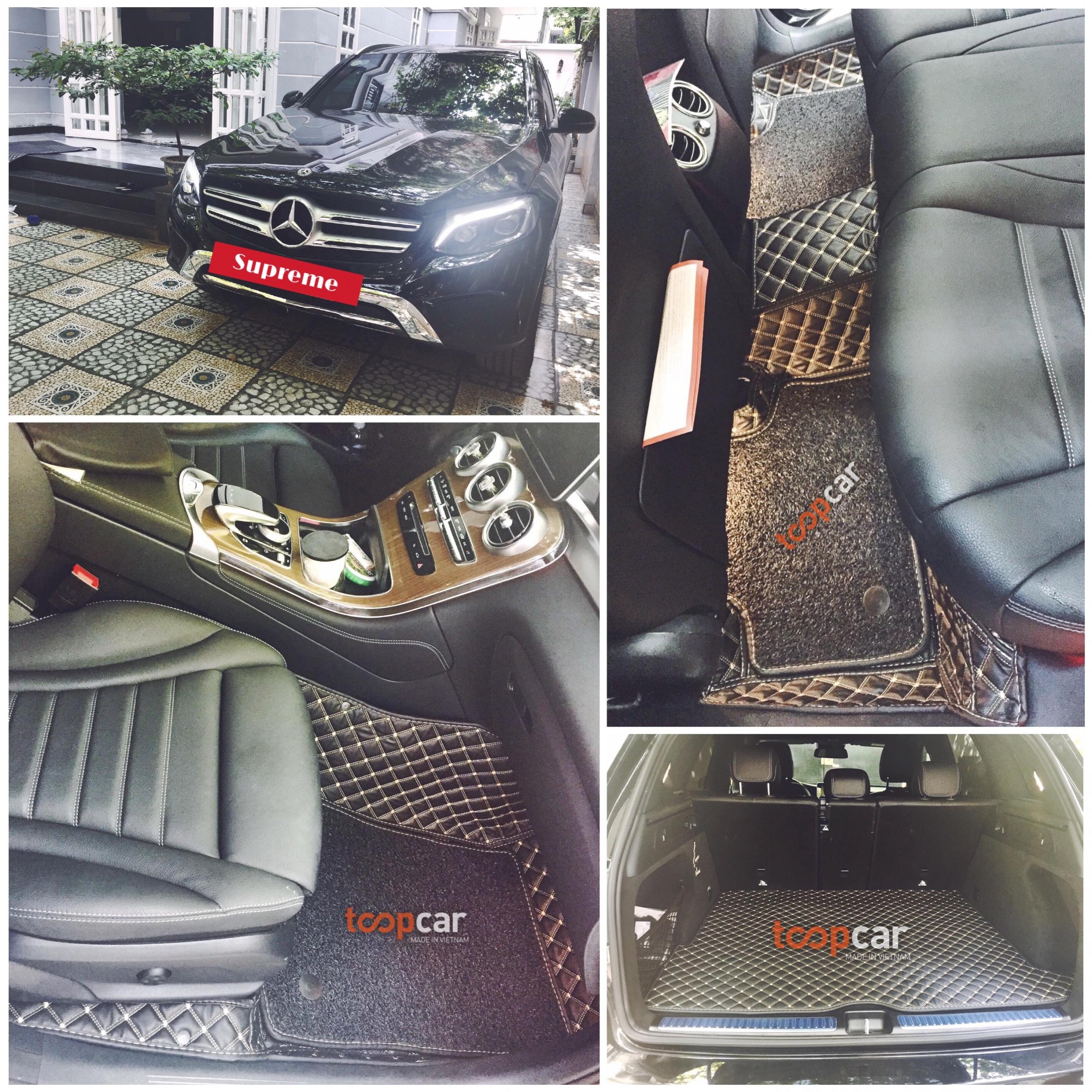 Lót Sàn 6D Mercedes GLC da cao cấp màu đen