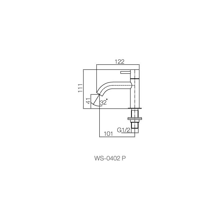 WS-0402P - Vòi chậu lạnh - INOX SUS 304 4