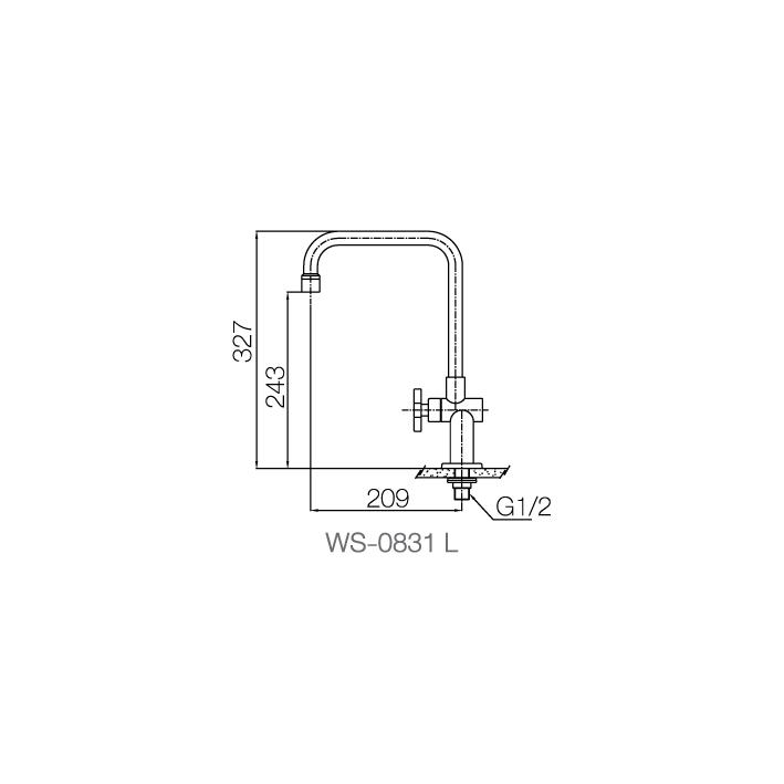 WS-0831L - Vòi chậu lạnh - INOX SUS 304 4
