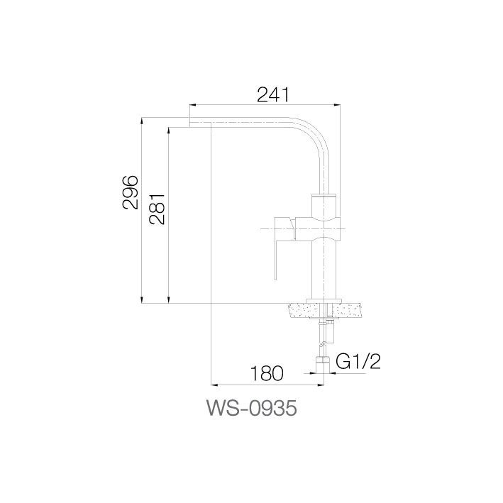 WS-0935 - Vòi chậu nóng lạnh - INOX SUS 304 2
