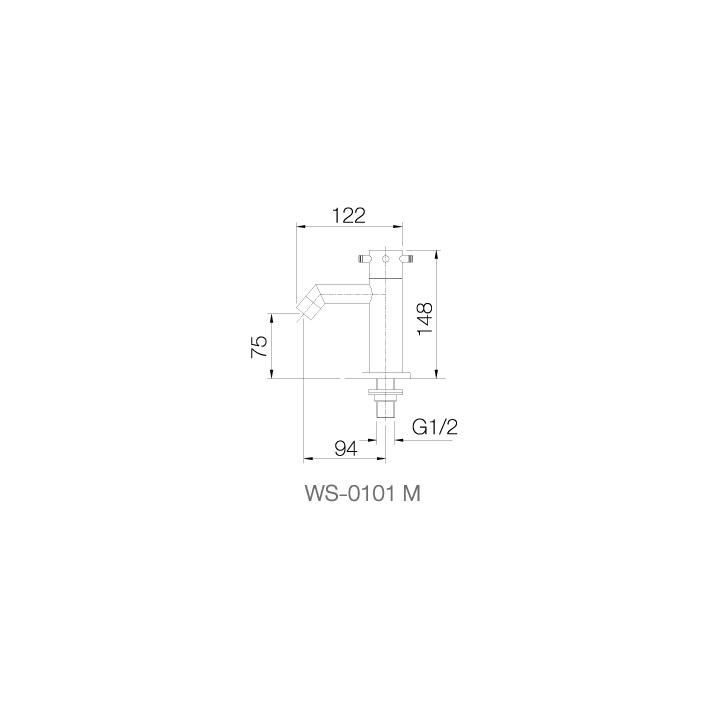 WS-0101M - Vòi chậu lạnh dạng thấp - INOX SUS 304 2