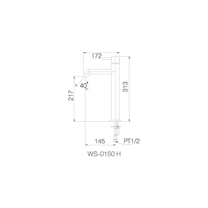 WS-0150H - Vòi chậu nóng lạnh dạng cao - INOX SUS 304 2