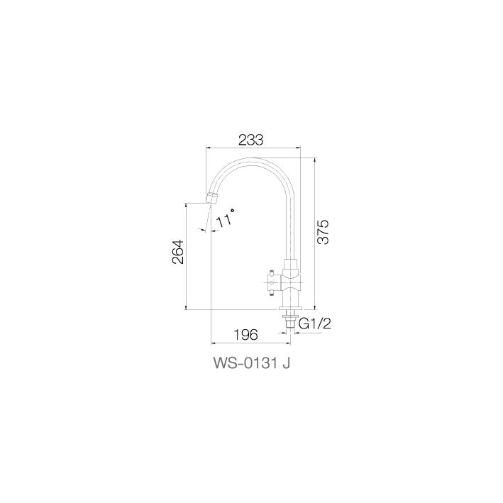 WS-0131J - Vòi chậu lạnh - INOX SUS 304 4