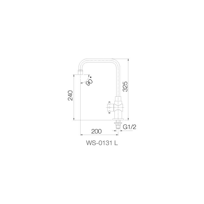 WS-0131L - Vòi chậu lạnh - INOX SUS 304 2
