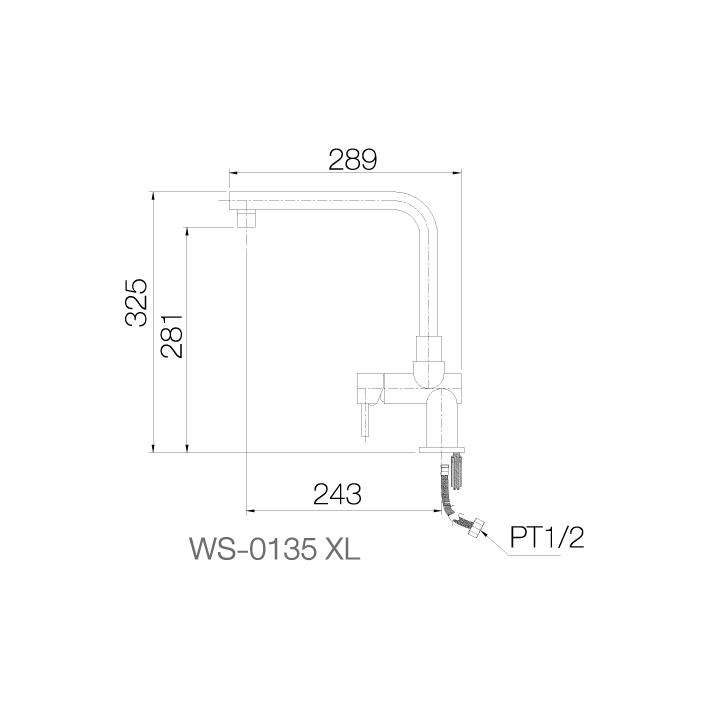 WS-0135XL - Vòi chậu nóng lạnh - INOX SUS 304 2
