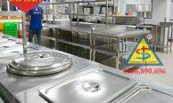 Cách thiết kế bếp trường học chuẩn một chiều an toàn vệ sinh thực phẩm