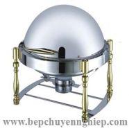 Nồi hâm buffet tròn mạ vàng nắp mở 180 độ CSK301