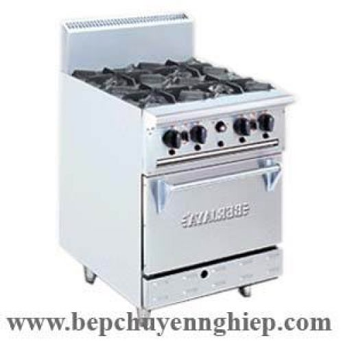 Bếp âu 4 họng kèm lò nướng bằng gas DRO4L