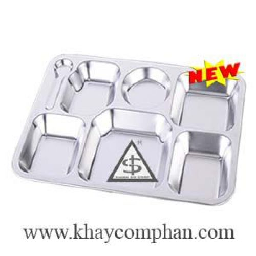Khay inox 304 cao cấp 7 ngăn