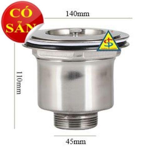 Phểu chậu rửa inox D140mm