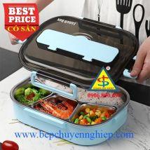 Khay cơm giữ nhiệt inox 304 an toàn thực phẩm