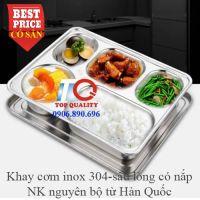 Khay cơm inox cao cấp 5 ngăn Hàn Quốc T5-E-VIP