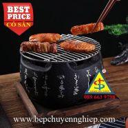Bếp nướng than hình tròn bằng gang của Nhật