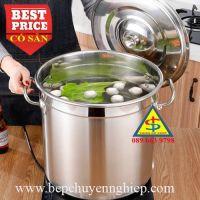 Nồi inox 304 công nghiệp 1 đáy cho bếp gas - điện - từ - hồng ngoại