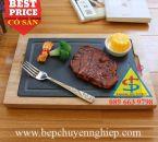 Tấm đá đen làm steak tại bàn