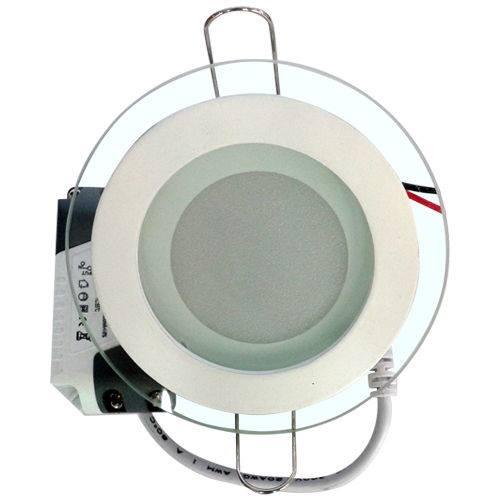 Đèn Led Âm Trần Siêu Mỏng Kính 6W