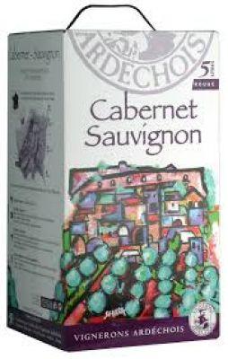Vang bịch BIB Cabernet Sauvignon Vig. Ardechois 5L