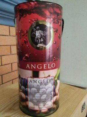 Rươu vang bịch Angelo Rosso - Vang ý ngọt 3lit
