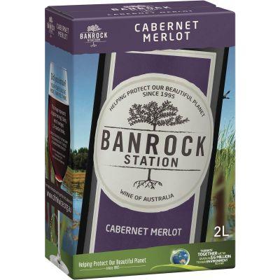 Rượu Vang Úc Banrock Station Cabernet Merlot (bịch 2L)