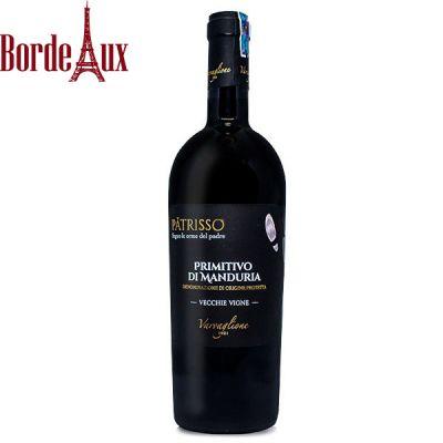 Rượu vang Ý Patrisso Primitivo di Manduria