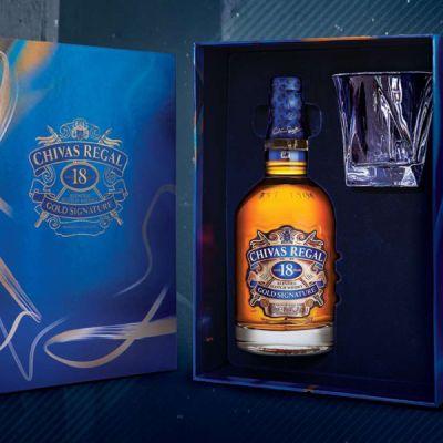 Rượu whisky Chivas 18 năm - Hộp quà tết Canh Tý 2020