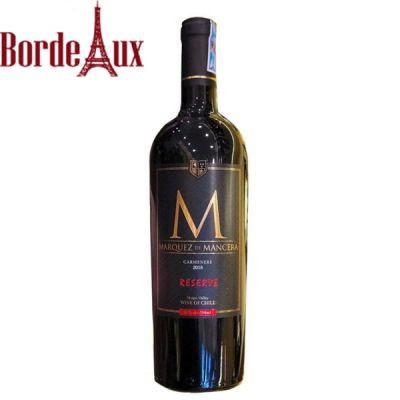 Rượu Vang Chile Marquez De Mancera Reserve