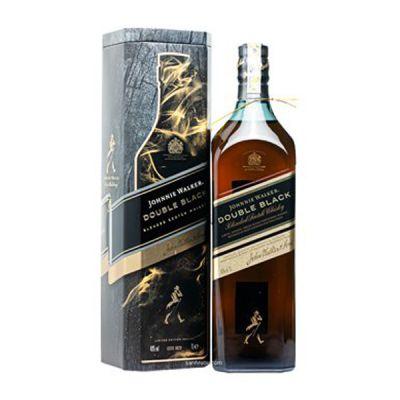 Rượu Johnnie Walker Double Black 1L Hộp Quà 2021
