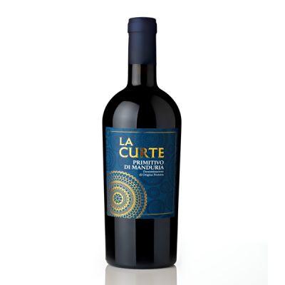 Rượu vang La Curte Primitivo di Manduria nhãn xanh