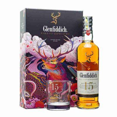 Rượu Glenfiddich 15 năm - Hộp quà tết 2021